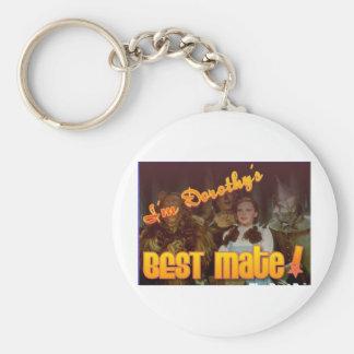 dorothysbestmate basic round button keychain