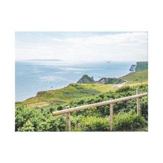 Dorset coast sea view canvas print