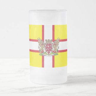 Dorset flag frosted glass beer mug