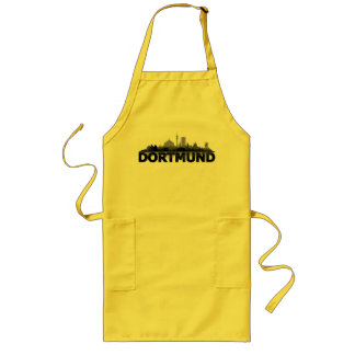 Dortmund town center of skyline - apron/grill long apron