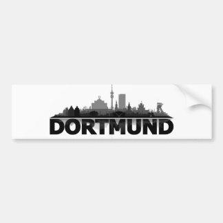 Dortmund town center of skyline - autostickers bumper sticker