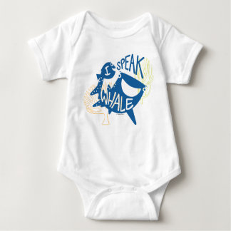 Dory & Destiny | I Speak Whale Baby Bodysuit