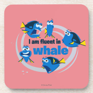 Dory | I am Fluent in Whale Beverage Coaster