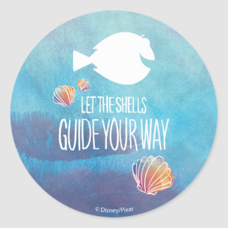 Dory | Let the Shells Guide Your Way Round Sticker