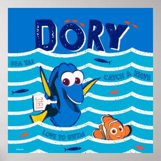 Dory & Nemo Love to Swim Poster