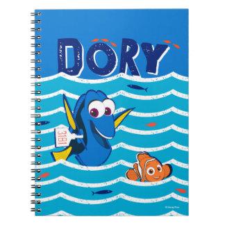 Dory & Nemo Love to Swim Spiral Notebooks