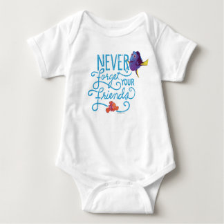 Dory & Nemo | Never Forget Your Friends Baby Bodysuit