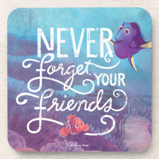 Dory & Nemo | Never Forget Your Friends Beverage Coasters