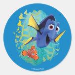 Dory & Nemo   Swim With Friends Round Sticker