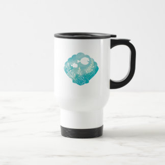 Dory & Nemo | Watercolor Shell Graphic Travel Mug