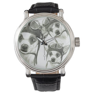 Dory the ChiWee(Tiny Chihuahua) by Carol Zeock Wrist Watches