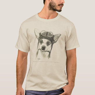 Dory the ChiWee (Tiny Chihuahua) WWI Flying Ace T-Shirt