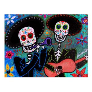 Dos Amigos Dia de los Muertos Postcard