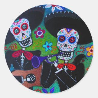 Dos Amigos Mariachi Classic Round Sticker