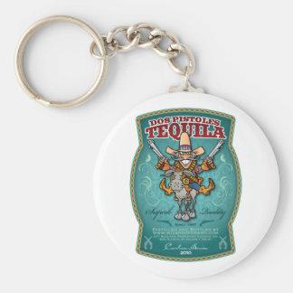 Dos Pistoles Tequila Basic Round Button Keychain