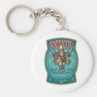 Dos Pistoles Tequila Keychains