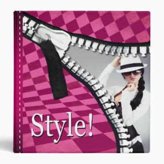 Dossier de tirette de damier de styliste de mode classeur