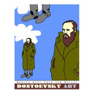 Dostoevsky art postcard