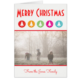 Dot Christmas Trees   Christmas Greeting Card