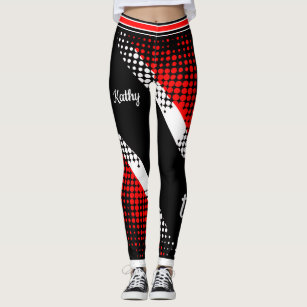 Dot Pattern Trinidad & Tobago Flag Leggings