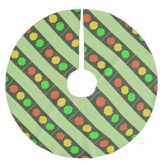 Dot Stoplight Brushed Polyester Tree Skirt