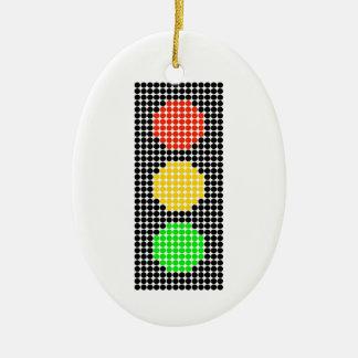 Dot Stoplight Ceramic Ornament