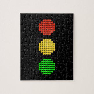 Dot Stoplight Colors Jigsaw Puzzle