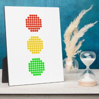 Dot Stoplight Colors Plaque