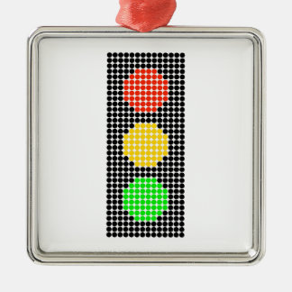 Dot Stoplight Metal Ornament