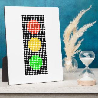 Dot Stoplight Plaque