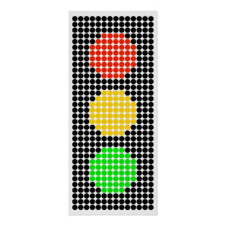 Dot Stoplight Poster