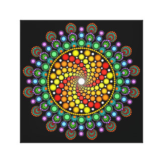 Dot Swirl Canvas Print