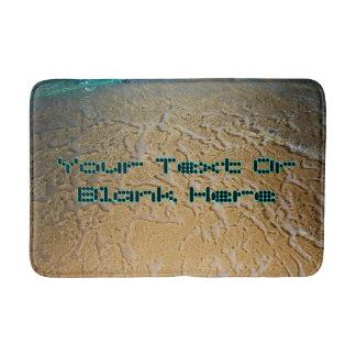 Dot Text Template Exotic Beach Bathroom Mat