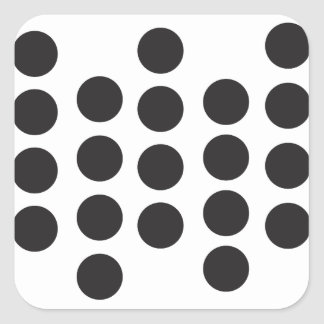 Dot'cha dare! square sticker