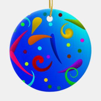 Dots and Spun.png Ceramic Ornament