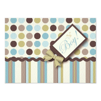 Dots and Stripes Baby Shower Invitations