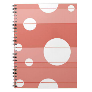 Dots and Stripes in BarnRed Spiral Note Book