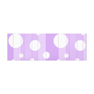 Dots and Stripes in FairytalePurple Canvas Print