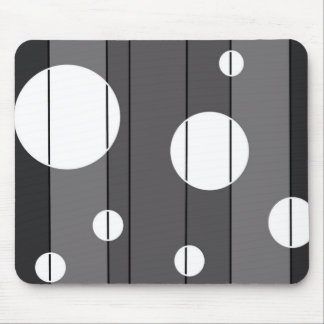 Dots and Stripes in Grey Mouse Pad