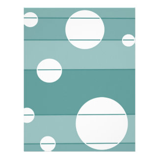 Dots and Stripes in WinterGreen Personalized Letterhead