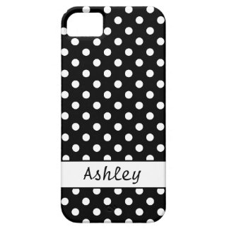 Dots Black and White Personalized Case For The iPhone 5