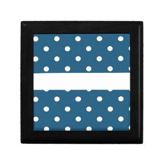 dots, blue and white, strip, elegant gift box
