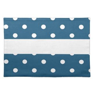 dots, blue and white, strip, elegant placemat
