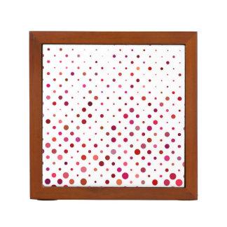 Dots in Warm Colors Desk Organizer