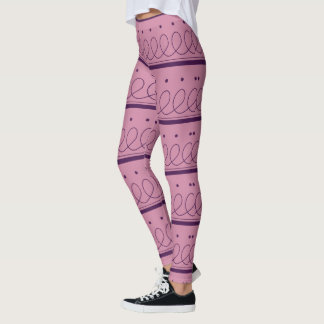 Dots, loops and thin lines leggings