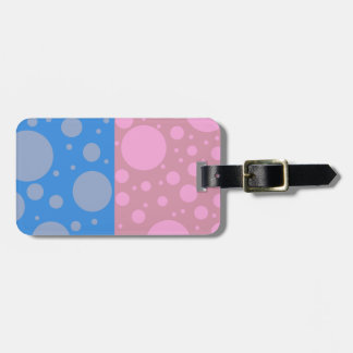Dots Luggage Tag w/ leather strap