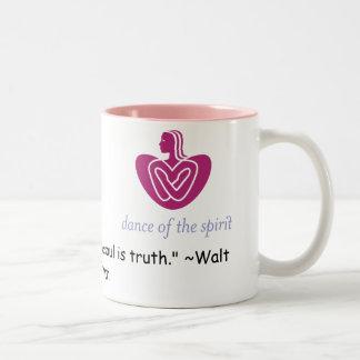 DOTS Mug- Walt Whitman Quote Two-Tone Coffee Mug
