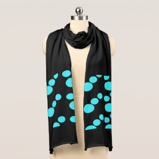 Dots on black scarf
