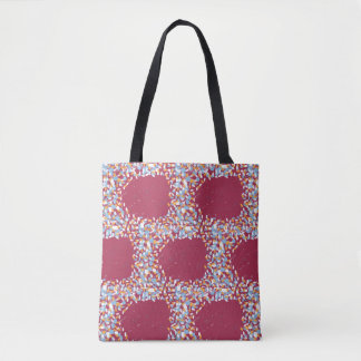 Dots on Canvas - Burgundy Tote Bag