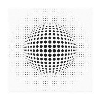 dots - optical illusion canvas print